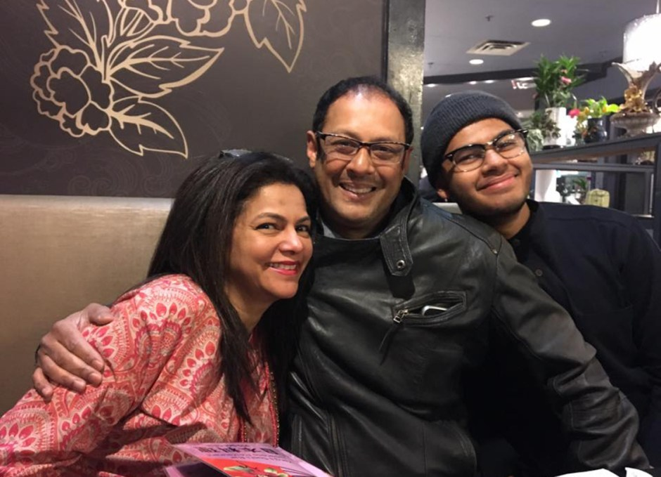 karen ahmed husband and one son