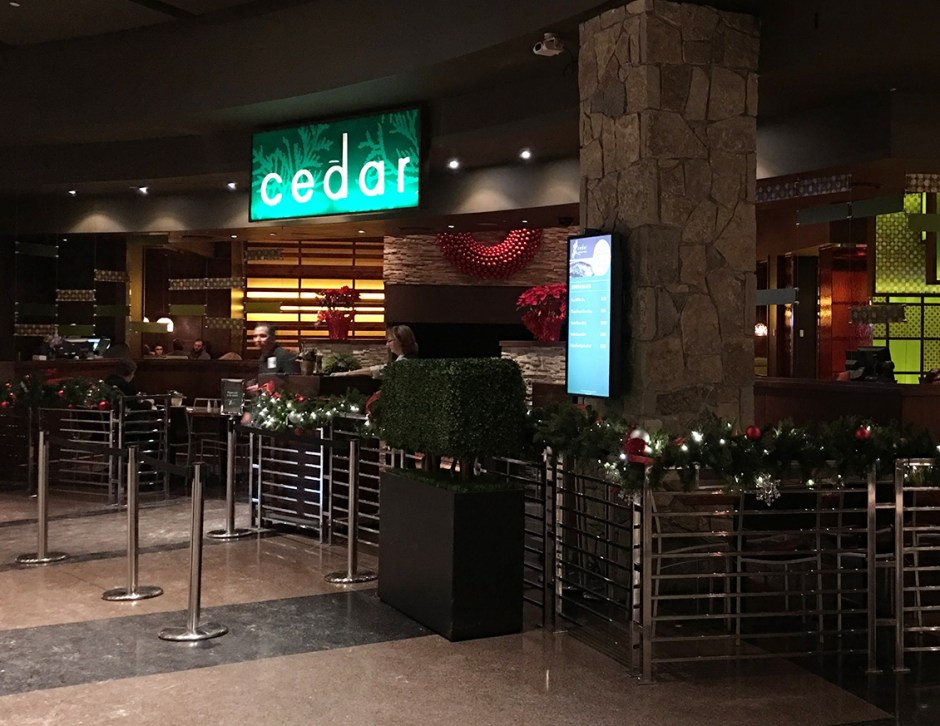 great food cedar entrance