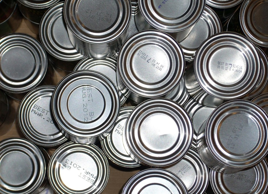 flashlight tin cans