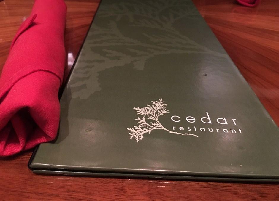 great food cedar menu