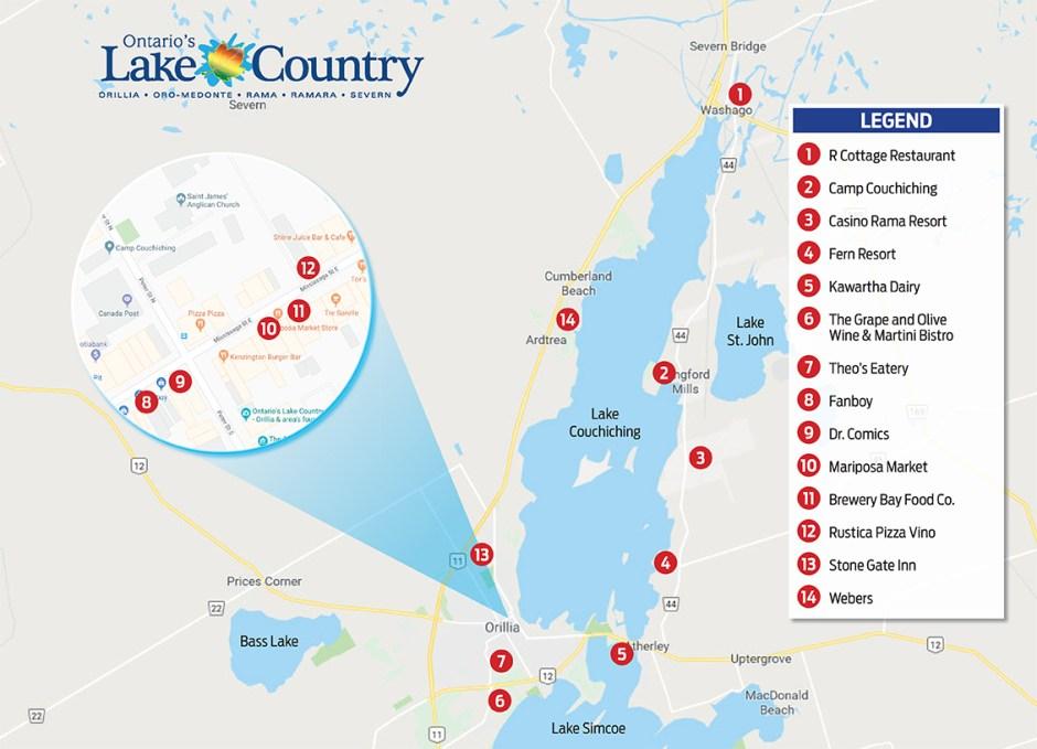 Lake Couchiching Map.indd
