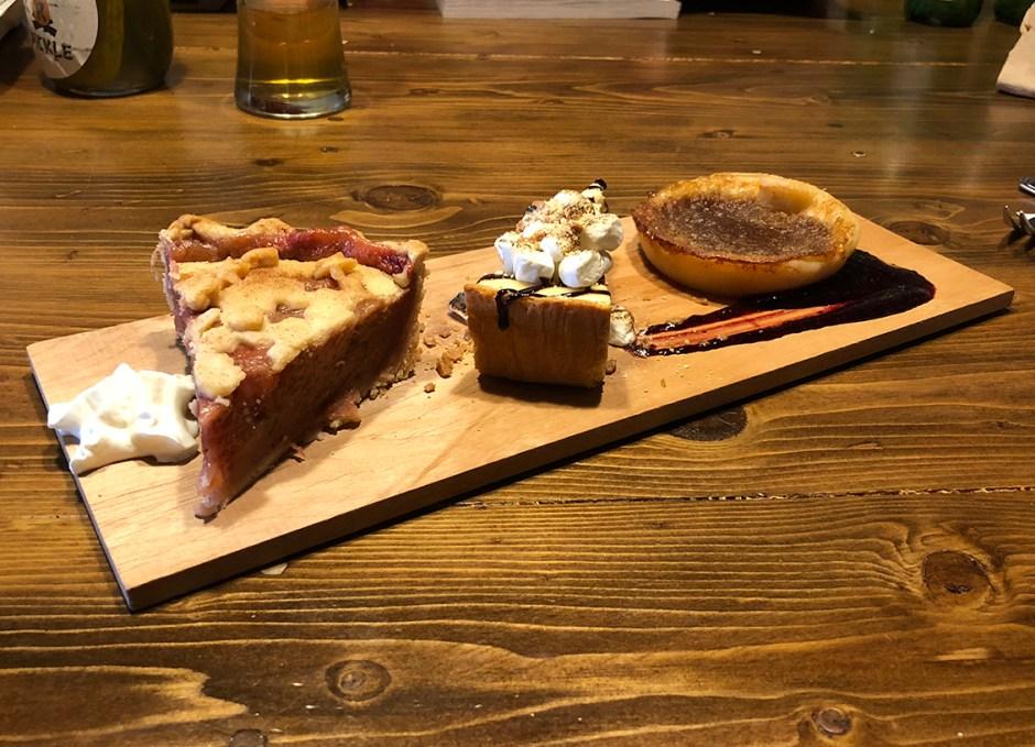 R Cottage desserts on table