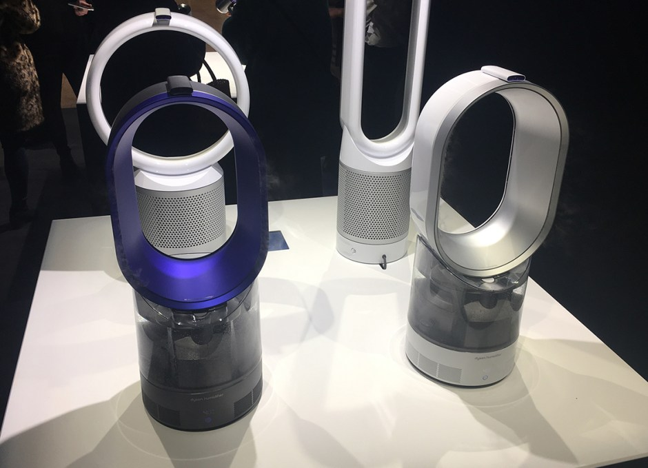 dyson humidifier running at demo store