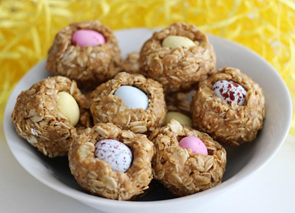 easter treats 9 No Bake Granola Bar Mini Egg Nests