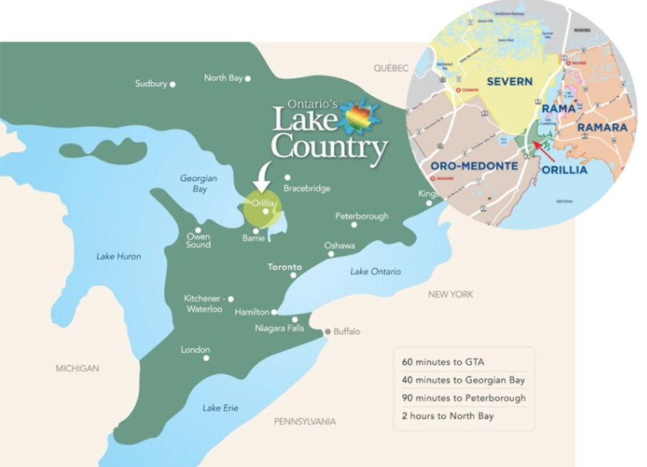 ontarios lake country map