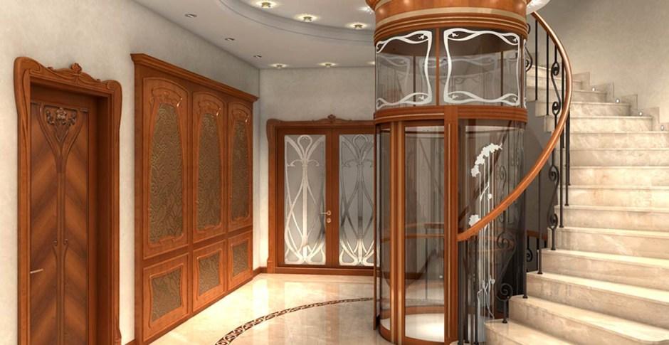 Residential Elevators circular stairway