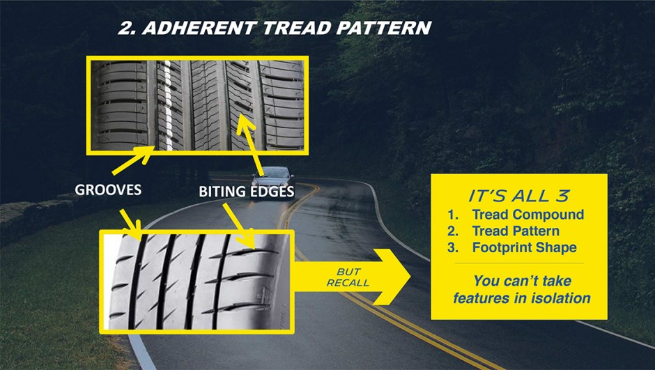 michelin truth about worn tires adherent tread pattern