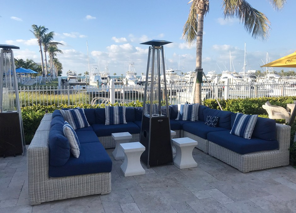 Oceans Edge poolside couches