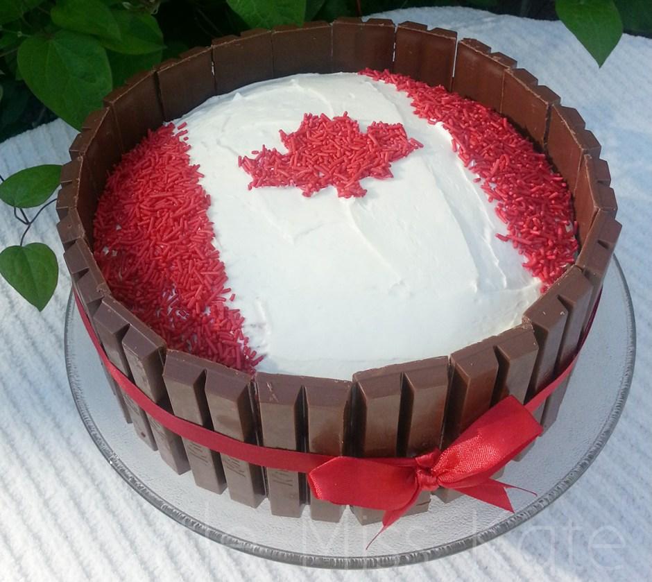 canada day desserts 6 Kit Kat Canada Day Cake