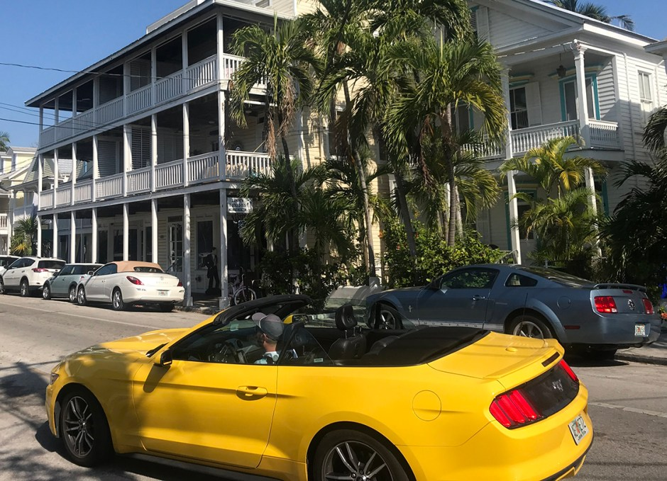 Get Around Key West mustang convertible