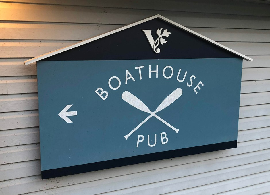 viamede the boathouse sign