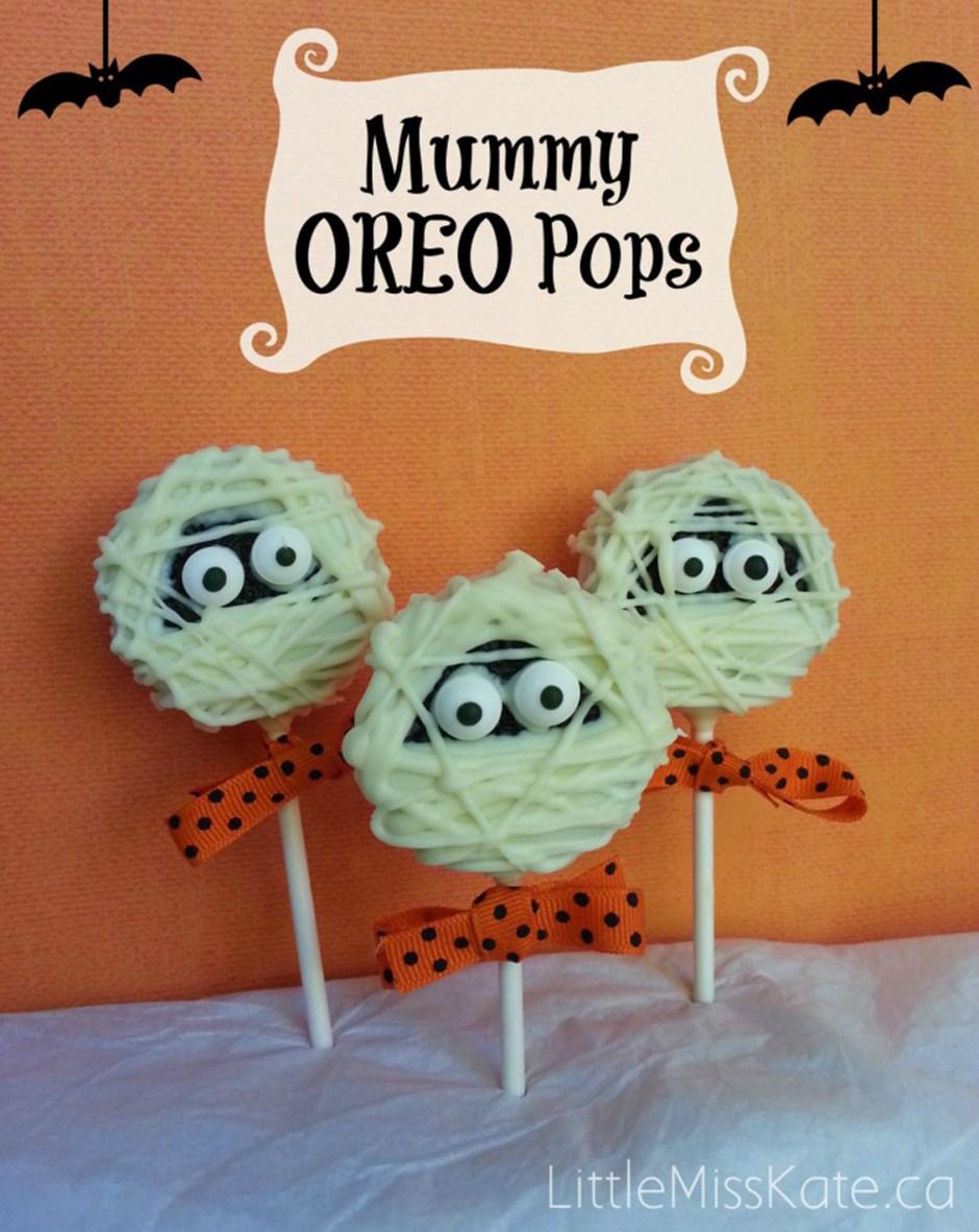 10 Mummy Oreo Pops Halloween Treats 2018