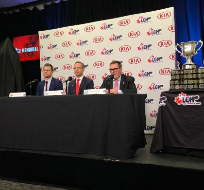 CHL and Kia Canada Press Conference in Quebec City. #ad @KiaCanada @CHLHockey