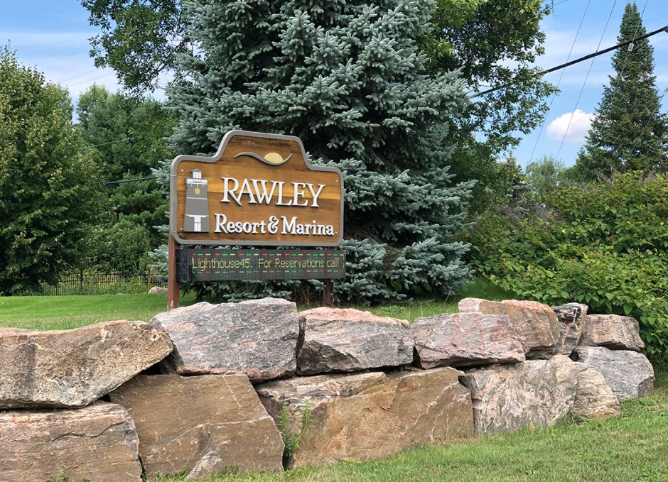 rawley resort sign