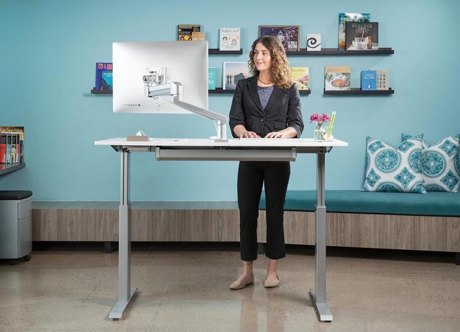 office Sit Stand Adjustable Desk