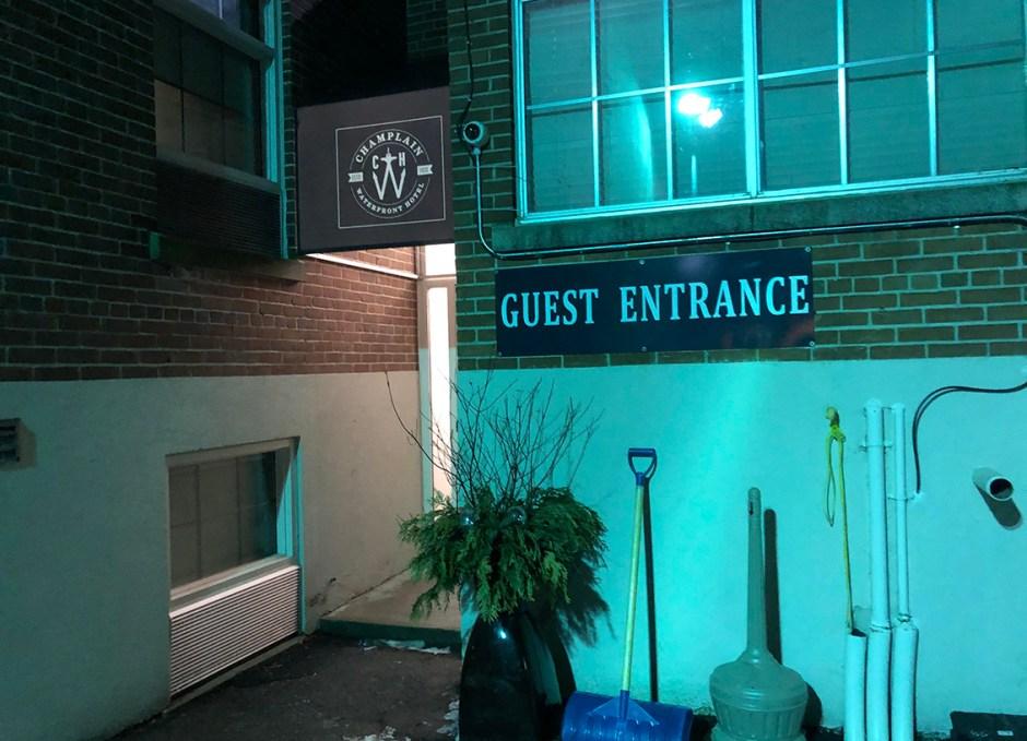 Champlain rear entrance