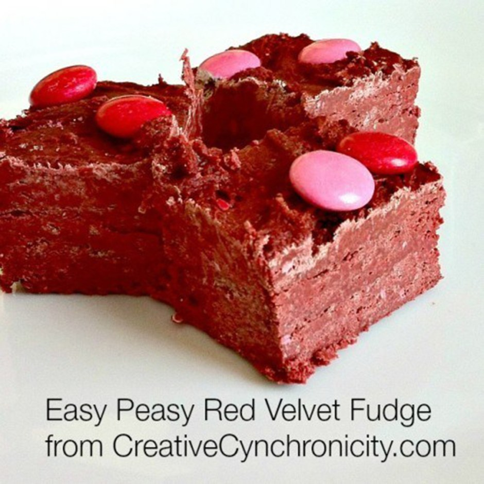 Valentines Day 13 Easy Peasy Red Velvet Fudge