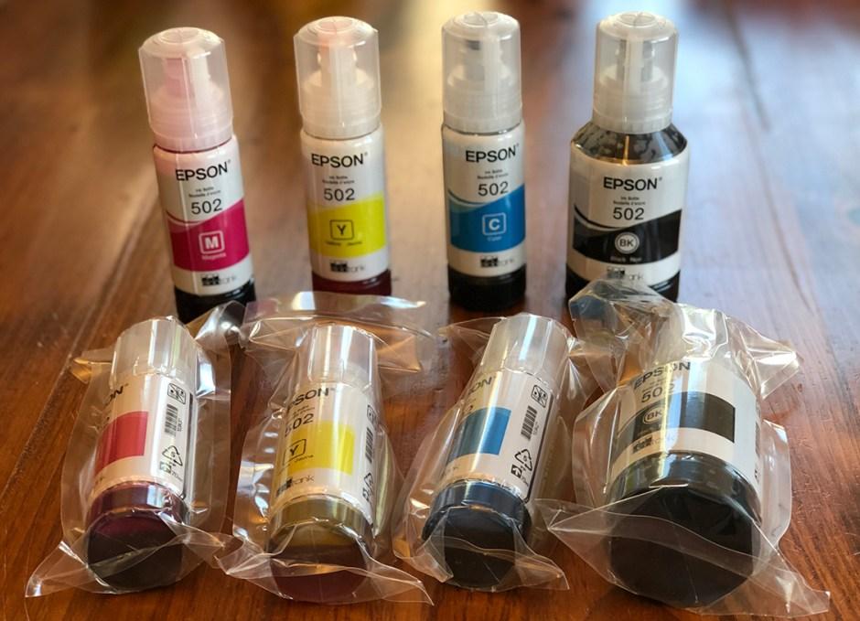 Epson WorkForce ET-4750 EcoTank 8 ink bottles