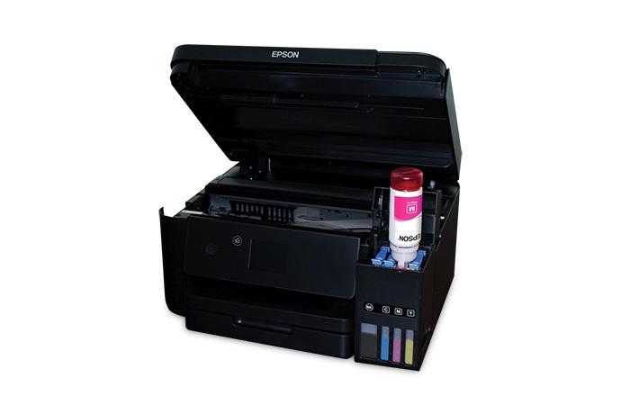 Epson WorkForce ET-4750 EcoTank ink bay