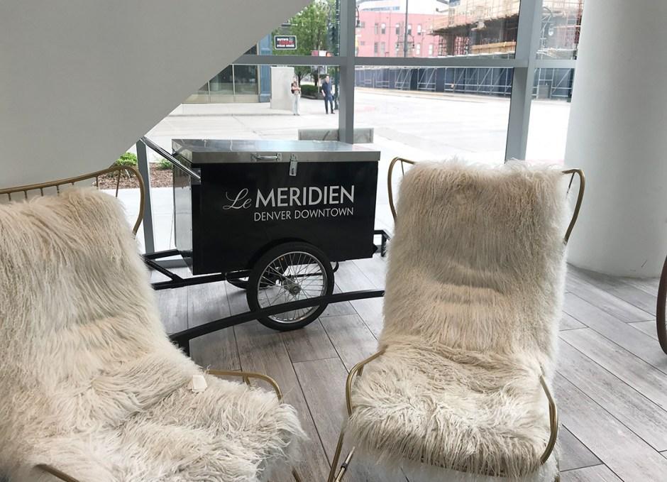 Le Méridien Downtown Denver lobby chairs