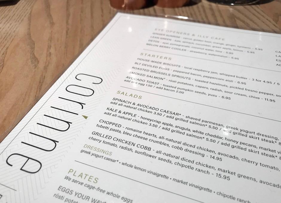 Corinne Restaurant Denver Colorado Brunch Menu