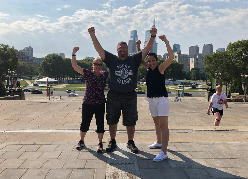 things to do in philly craig rocky steps with ladies