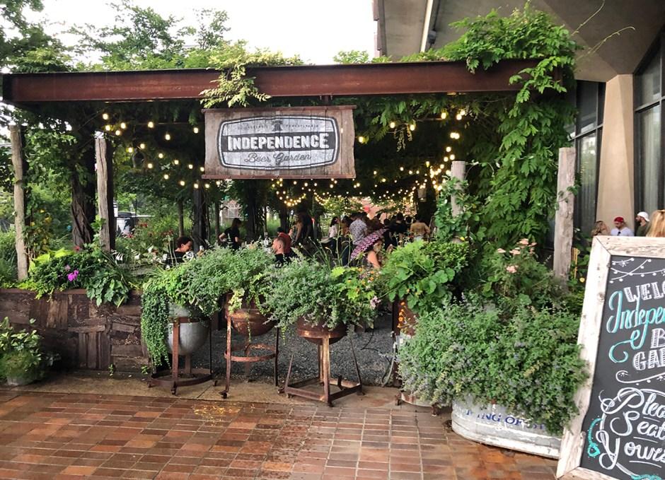 Raise A Glass Independence Beer Garden Entrance