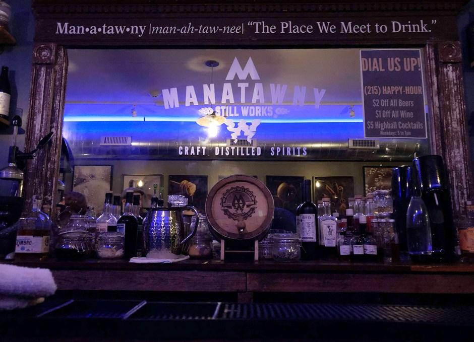 Raise A Glass Manatawny Craft Spirits Tasting Room Behind Bar