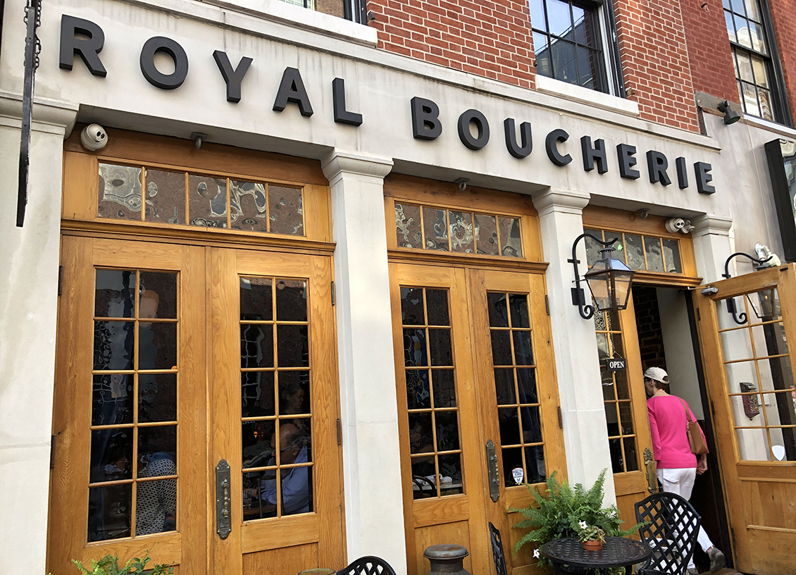royal boucherie entrance feature