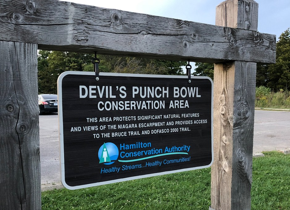 hamilton devils punchbowl sign