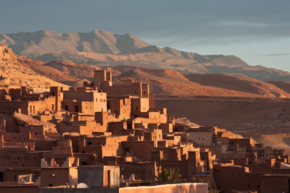 morocco sand dunes and city africa