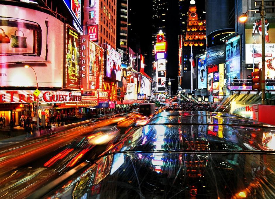 new york city theatre lights