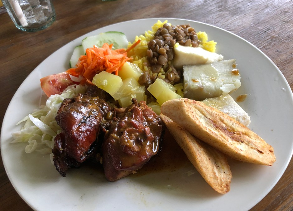 islet view restaurant castle bruce dominica smoked chicken and provisions