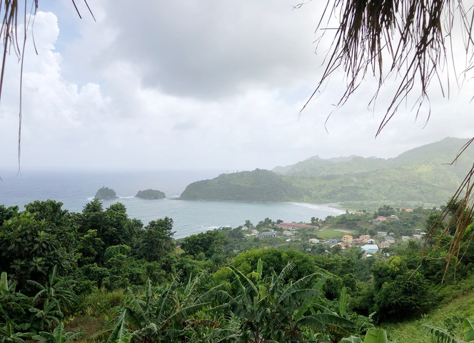 islet view restaurant castle bruce dominica view