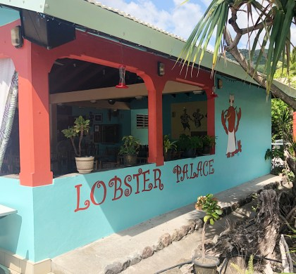 Enjoying a Lobster Feast at Sunset Bay Club Lobster Palace in Dominica #ad #BDKDominica #DiscoverDominica