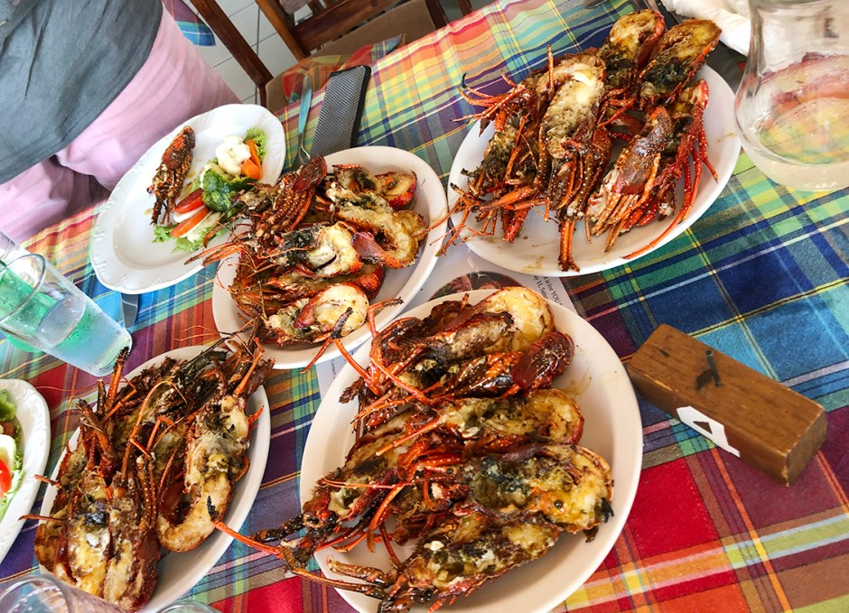 Sunset Bay Club Lobster Palace in Dominica Lobster Feast