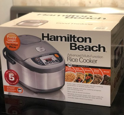 A Delicious Dinner made with the @HamiltonBeachCA Multi-Function Rice Cooker