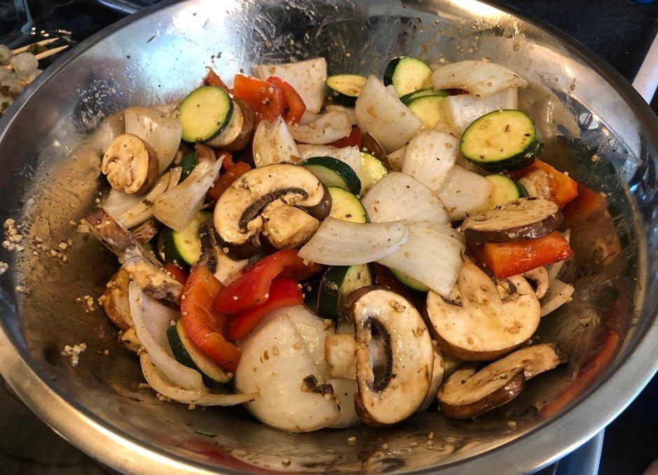 grace foods jerk premixing veggies