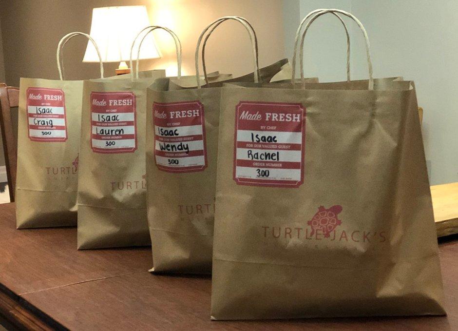 turtle jacks dinner in bags