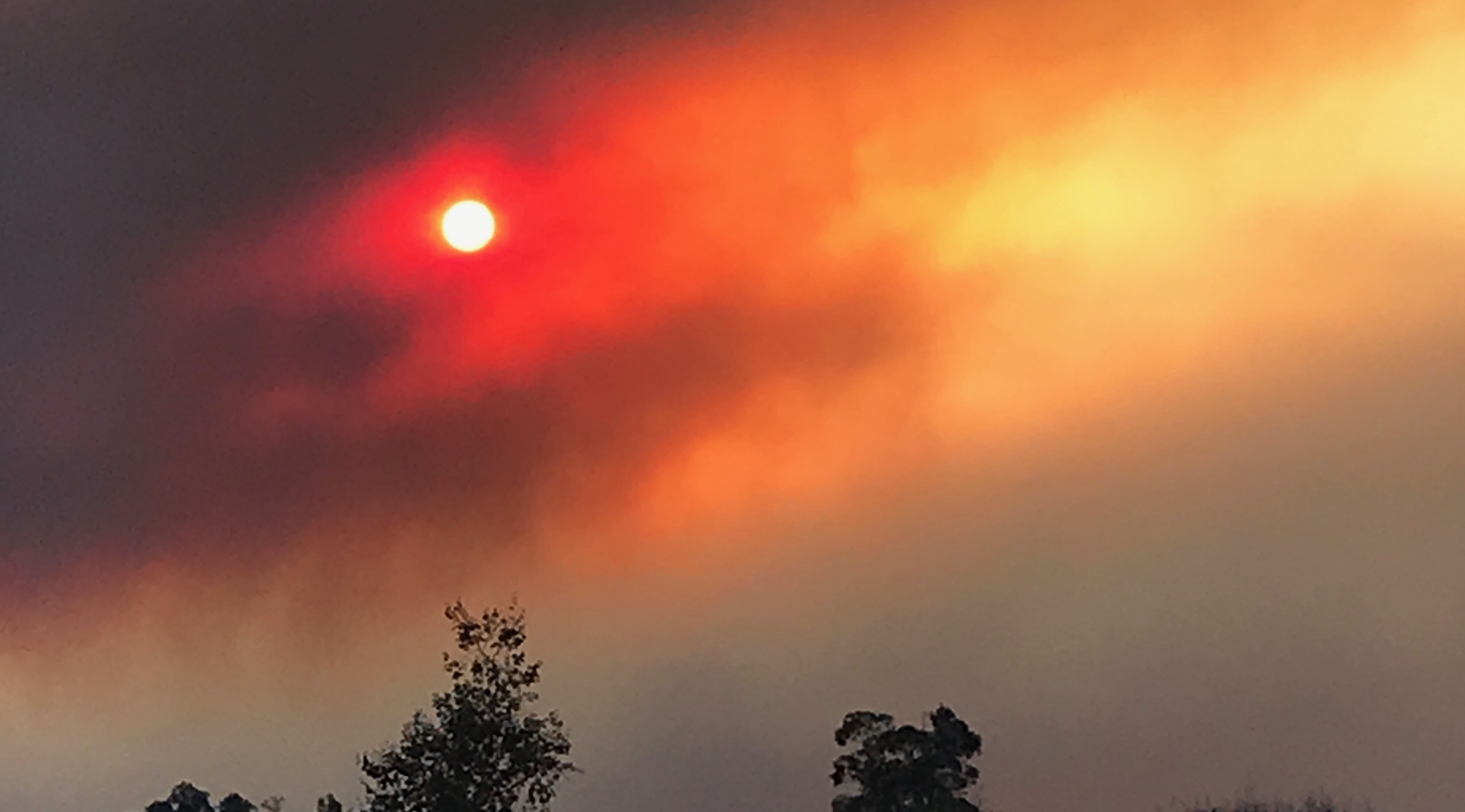 The Thomas Fires in Ventura - sky view on Tuesday