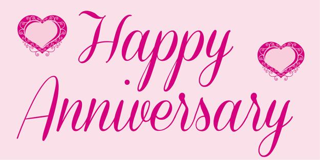 Anniversary Banner - Pink