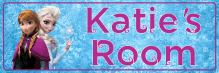 Frozen Anna & Elsa - Bedroom Door Sign