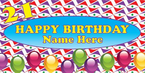 21st Birthday Banner - Pattern