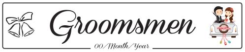 Groomsmen Car - Wedding Number Plate