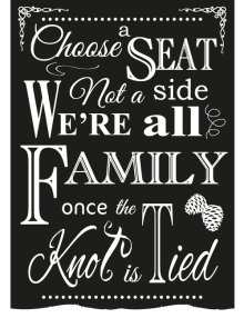 Choose A Seat Sign - Winter