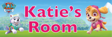 Paw Patrol Skye & Everest - Bedroom Door Sign