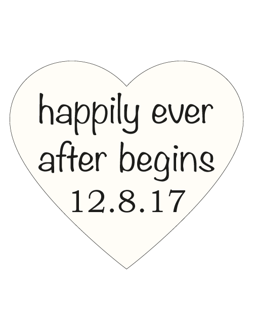 Save The Date Sign - Happily Ever After