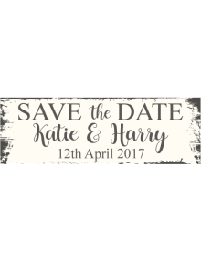 Save The Date Sign - Rustic