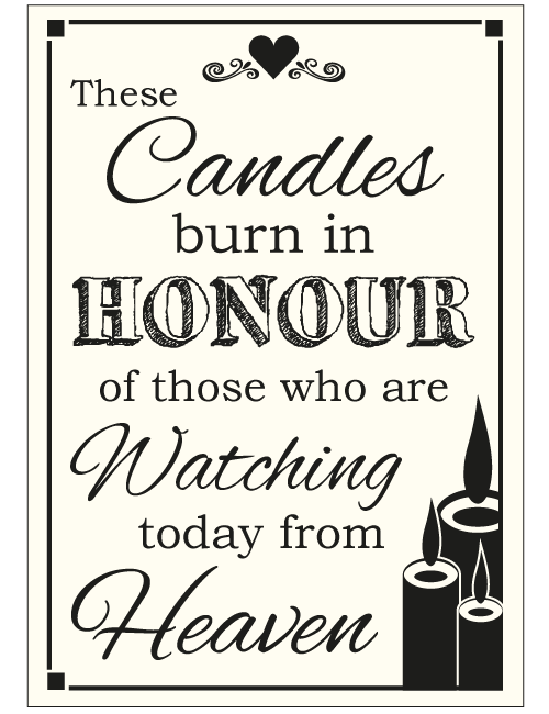 Candle Sign - Ivory