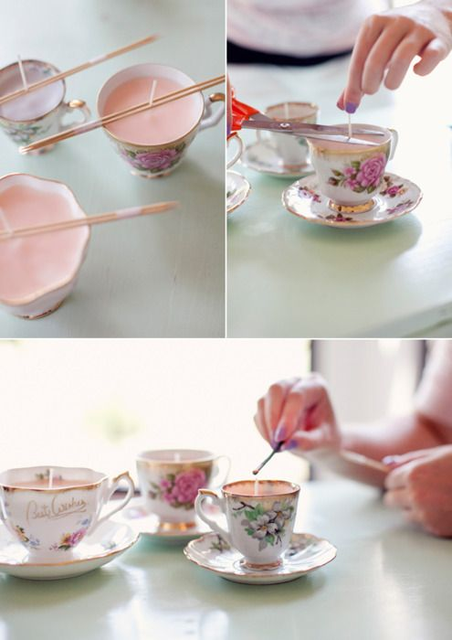 candle teacups